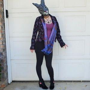 Levi's Jeans Corduroy Purple Floral  Blazer